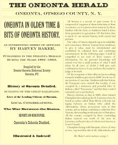 Oneonta in Olden Time - cover image